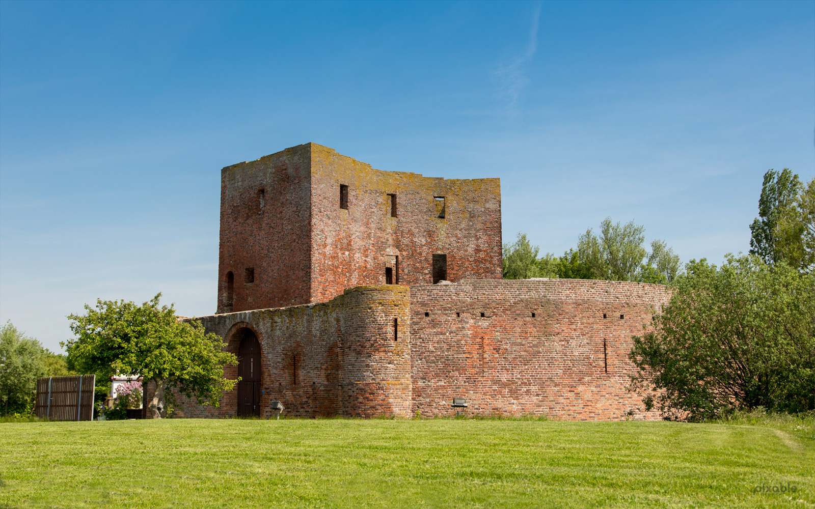 historic ruin castle Teylingen in the South-Holland village of Sassenheim in the Netherlands - Pixable photostock