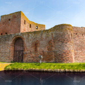 The front of the ruin castle Teylingen in Sassenheim in the Netherlands