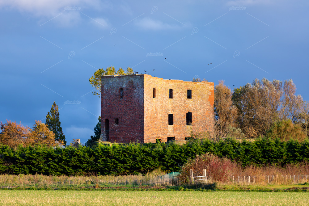 The ruin castle Teylingen in the south-holland village of Sassenheim in the Netherlands.