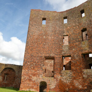 The interior of the ruin castle Teylingen in Sassenheim in the Netherlands.