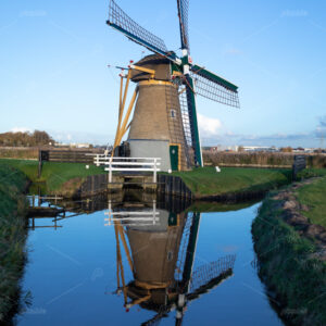 "The historic watermill ""Hoop doet Leven"" on the Leidsevaart in the Elsgeesterpolder, build in 1783. Located on the Elsgeesterlaan in the South-Holland village of Voorhout in the Netherlands."
