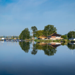 Sailing school 't Vossehol and camping Hof van Eden on lake de Kaag in the Netherlands.