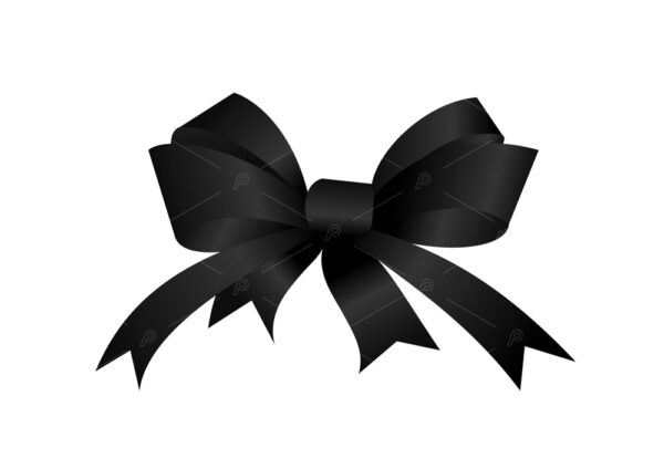 Black gift bow 4 bows andwith 4 ends