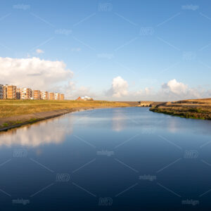 Lock at the mouth of river the Rhine in the South-Holland fishing village Katwijk aan Zee in the Netherlands.